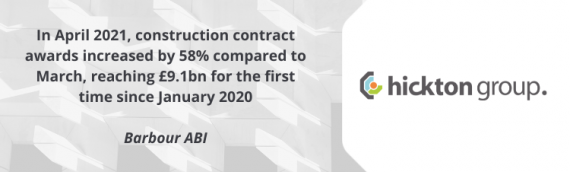 Construction Contract Awards reaches £9.1bn in April